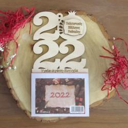 Ξύλινο ημερολόγιο 2022 καθετο κομμένο